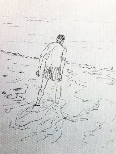 Crayon à papier 49x30 cm